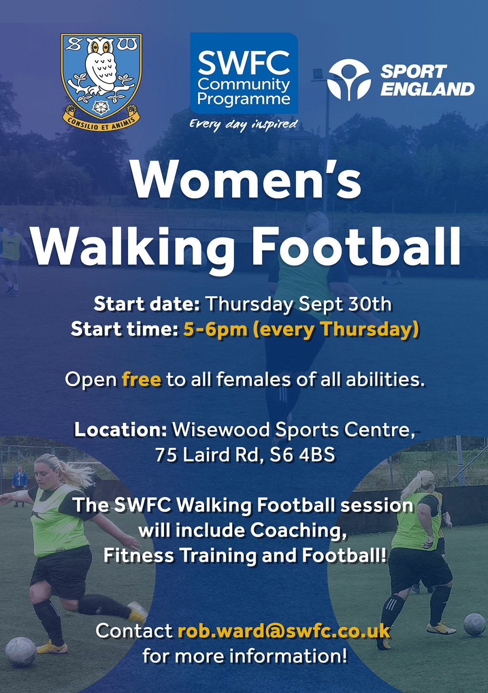 Our Women's Walking Football sessions are now running!
